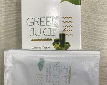 Коктейль для похудения Green Juice на столе